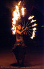 dancer with fire fans - burning man 2007, burning man, fire dancer, fire dancing, fire fans, fire performer, fire spinning, flames, night, woman