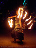 fire performer - fire fans - burning man 2007, burning man, fire dancer, fire fans, fire performer, fire spinning, night, woman
