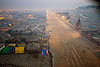 aerial view of kumbh mela 2013 festival wrapping down (india), aerial photo, dawn, hindu, hinduism, kumbha mela, maha kumbh mela, street