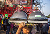wallah carrying CRT screens on his head - delhi (india), bearer, carrying on the head, cathodic ray tubes, crt, delhi, electronics, man, porter, porting, recycling, rope, television, tv screens, wallah