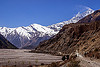 kali gandaki valley road - annapurnas (nepal), annapurnas, dhaulagiri, dirt road, kali gandaki valley, mountain road, mountains, peak, snow, unpaved
