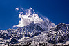 dhaulagiri mountain and its glacier (nepal), annapurnas, cloud, dhaulagiri, glacier, kali gandaki valley, mountains, peak, snow