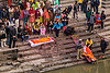 hindu funeral - corpses of the dead on ghat (nepal), bagmati river, cadaver, corpse, crowd, dead, festival, funeral, ghats, hinduism, kathmandu, lying in wake, maha shivaratri, pashupati, pashupatinath, shroud, steps, washing, water