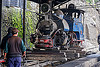 "steam locomotive ""queen of the hills"" undergoing maintenance at the darjeeling train yard (india), 804 queen of the hills, darjeeling himalayan railway, darjeeling toy train, men, narrow gauge, railroad, steam engine, steam locomotive, steam train engine, train depot, train yard, workers"