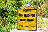 no need for over speed - BRO road sign (india), border roads organisation, bro, road marker, road sign, swastik project, traffic sign, west bengal