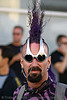 oakley overthetop sunglasses - mohawk, folsom street fair, man, mohawk hair, oakley over the top, overthetop, purple, sunglasses