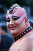 ugly man - no, just strange!, cockscomb, coxcomb, crest, drag queen, fetish, folsom street fair, glitter, leather collar, makeup, nails, necklace, no neck, punk man, spikes, vivian