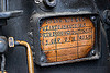brass plate record in steam locomotive - darjeeling (india), 1913, 788 tusker, brass, darjeeling himalayan railway, darjeeling toy train, narrow gauge, plate, railroad, steam engine, steam locomotive, steam train engine