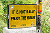 it is not rally - enjoy the valley - BRO road sign (india), border roads organisation, bro, road marker, road sign, swastik project, traffic sign, west bengal