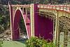 coronation bridge - sevoke bridge (india), arch, bamboo scaffolding, coronation bridge, infrastructure, paint, purple, road, sevoke bridge, teesta river, tista, water, west bengal