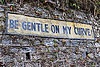 be gentle on my curve - road sign (india), border roads organisation, bro, road sign, sikkim, traffic sign, wall