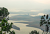 umiam lake (india), artificial lake, hazy, meghalaya, reservoir, shillong, umiam lake, water