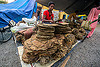 dried tobacco leaves on stall at street market (india), dried, gairkata, stall, street market, tobacco leaves, vendor, west bengal