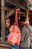 beef lungs and heart hanging at meat market (india), beef heart, beef lungs, east khasi hills, meat market, meat shop, meghalaya, organs, pynursla, raw meat