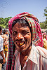 indian man smiling - betel nut teeth (india), betel nut, headdress, headwear, man, muslim, west bengal