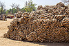 heap of hemp rope skeins (india), heap, hemp, ropes, skeins, west bengal