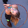rachel with hula-hoop, burning man decompression, hula hoop, rachel, woman
