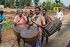 indian drums - small marching band (india), canes, drummers, drums, festival, hinduism, marching band, men, percussion, playing music, walking