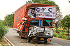 DGFC truck accident - frontal collision (india), delhi gujarat fleet carrier, dgfc, frontal collision, head-on collision, lorry, road crash, tata motors, traffic accident, traffic crash, truck accident, wreck