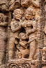 ancient erotic sculpture at the konark sun temple (india), carving, erotic sculptures, high-relief, hindu temple, hinduism, konark sun temple, maithuna, stone