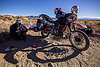 KLR 650 motorcycle equipped for offroad adventures, california, camping stove, desert, dual-sport, eastern sierra, helmets, kawasaki, klr 650, luggage rack, mammoth lakes, motorbike touring, motorcycle touring, pannier box, reflective tape, shadow, sharon, woman