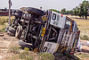 overturned TATA truck (india), 2515 cex, crash, lorry, overturned, road, rollover, tata motors, traffic accident, truck accident, underbelly, wreck