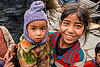 little girl holding baby (india), baby, children, holding, janki chatti, kids, knit cap, little girl, people, toddler