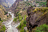 road on cliff - dhauliganga valley (india), cliff, dhauliganga river, dhauliganga valley, motorbike touring, motorbikes, motorcycle touring, motorcycles, mountain road, mountains, raini chak lata, rock, royal enfield bullet, village, water