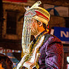 indian groom with fringes hat at his wedding (india), bank notes, costume, embroidery, fly fringes, fringes veil, groom, hat, headdress, man, money, night, rishikesh, wedding