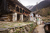 traditional house in himalayan mountain village (india), houses, janki chatti, mountains, people, village
