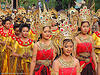 beautiful thai women in traditional royal thai costumes - ปราสาทหินพนมรุ้ง - phanom rung festival - thailand, asian woman, asian women, crowns, golden, headdress, headwear, people, performers, phanom rung festival, procession, royal, traditional costumes, ประเทศไทย, ปราสาทหินพนมรุ้ง