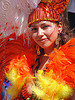 brazil carnival costume - orange feathers - carmen