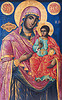 virgin mary and and infant jesus - byzantine art - rila - rilski monastery (bulgaria), byzantine, child jesus, image, infant jesus, jesus christ, madonna, orthodox christian, painting, religion, rila, rilski manastir, rilski monastery, sacred art, virgin mary, българия, рилски манастир
