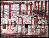 tool wall, new idria, painted, peeling paint, pliers, tools, workshop, wrenches
