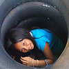 girl in tube, child, festival, inner tubes, kid, little girl, river fair, river tubing, songkran, tha ton, ประเทศไทย, สงกรานต์