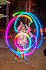 spinning light morphing LED poi, glowing, led lights, led poi, light poi, long exposure, night, paegasus flameheart, star camp, woman