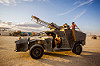 humvee art car with fire canon - burning man 2015, burning man, fire, flame, hmmwv, humvee, unidentified art car