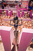 black barbie doll crucified - barbie death camp - burning man 2015, barbie death camp, barbie dolls, black, blasphemous, burning man, cross, crucified, crucifixion, many, pink