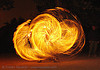 spinning fire ropes (san francisco), fire dancer, fire dancing, fire performer, fire ropes, fire spinning, flames, long exposure, night, spinning fire