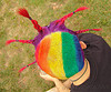 rainbow hair - short with braid spikes, braid, dani, gay pride festival, gay pride parade, people, rainbow colors, rainbow hair, sf gay pride, short