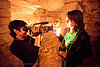 catacombes de paris - catacombs of paris (off-limit area) - alyssa and coraline, alyssa, androgynous, camcorder, candles, catacombs of paris, cataphile, cave, new year's eve 2008, people, shooting, underground quarry, video camera, woman