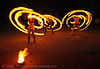 fire artists (bomtribe) - san francisco, fire dancer, fire dancing, fire hula hoop, fire performer, fire spinning, flames, hula hooping, hula hoops, long exposure, night, spinning fire
