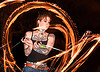 spinning fire poi (san francisco) - fire dancer - leah, fire dancer, fire dancing, fire performer, fire spinning, flames, leah, long exposure, night, spinning fire, tattooed, tattoos, woman