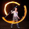 kyra spinning fire staff (san francisco), fire dancer, fire dancing, fire performer, fire spinning, fire staff, flames, kyra, long exposure, night, spinning fire, woman