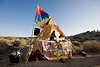 rave party in the desert, desert party, dj, flag, music, psy trance, rave party