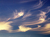 evening sky with cirrus clouds (san francisco), blue, cirrus clouds, high clouds, mares' tails