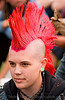 pink mohawk, gay pride 2008, gay pride festival, jessi, mohawk hair, people, pink hair, punk girl, sf gay pride, woman