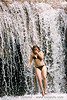kuang si waterfall, kuang si falls, luang prabang, swimsuit, water, waterfall, woman