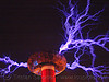 tesla coil, danger, electric arc, electric discharge, fire art, fire arts festival, high voltage, lightnings, plasma filaments, static electricity, tesla coil, the crucible, therm