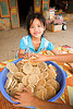 rice cookies - home made - girl - laos